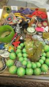 A large quantity of interesting jewellery including brooches, rings, bangles etc.