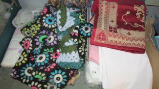 A quantity of textiles.