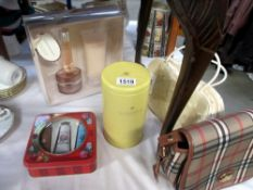 A selection of ladies skincare products and handbag (all new)