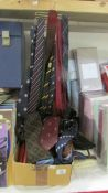 A good lot of silk and other ties.