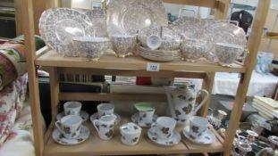 A Crown Regent tea set and a coffee set.