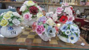A quantity of porcelain posies.