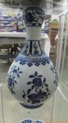 A Chinese blue and white vase.