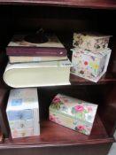 A quantity of pretty boxes & photo album,