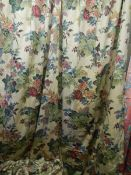 2 pairs of lined curtains, 250 w x 210 d.