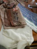 A bodice top and matching fabric (possibly a sari),