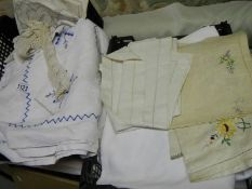 A quantity of embroidered and other linen.
