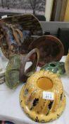6 pieces of Studio pottery.