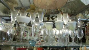A mixed lot of drinking glasses including cocktail.