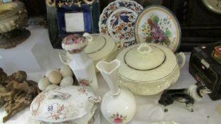 A mixed lot of ceramics including tureens, plates etc.