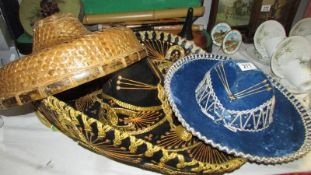 A Chinese hat and 2 others.