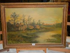 A good oil on canvas, B G Cole 1896, relined in 2008.