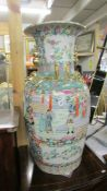A large Chinese pedestal vase.