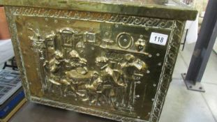 A good brass log box.