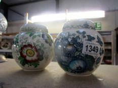 2 Mason ginger jars