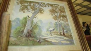 A gilt framed oil on board signed Frank Mutgers.