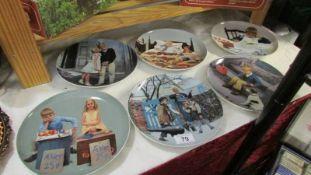 6 Copenhagen collector's plates.