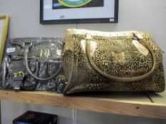 2 Butler and Wilson ladies handbags including a leopard one