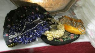 A beadwork bag and other items.