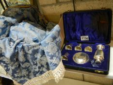 A travelling communion set with small challice,