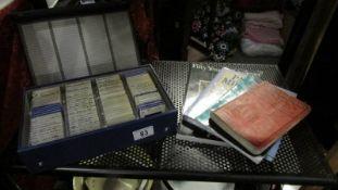 A box of 35mm slides, books etc.