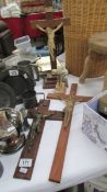 4 assorted Crucifixes.