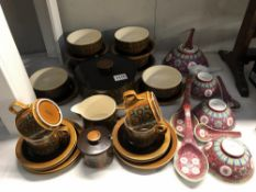 A quantity of Hornsea Bronte china, (26 pieces) soup bowls, saucers, cups,