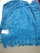 3 Chenille table cloths and a fleece throw.
