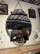 An art deco mirror size 66cm x 49cm approx.