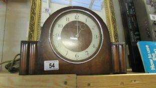 An old mantel clock.