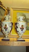 A pair of vases.