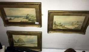 3 good Cornish pictures, Crantock Cove, Portleven and Kynance Cove,