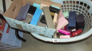 A large quantity of empty ring and jewellery boxes.
