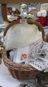 A basket of assorted linen.