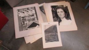 A quantity of unframed photographs.