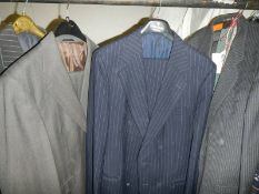 7 men's two piece suits (one with waistcoat) various sizesand styles, Magee, Savoy Tailors Build,