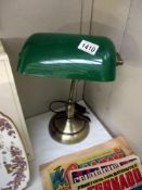 A bankers desk lamp,