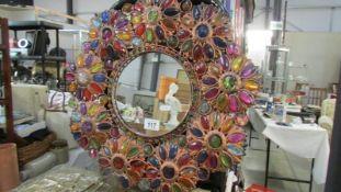 A decorative mirror.