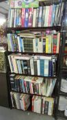 5 shelves (in excess of 120) good hard back and paper back books.