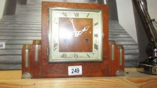 An art deco clock. ****Condition report**** Both springs are ok.