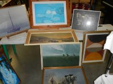 7 good framed pictures.