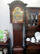 A fine German Grandfather clock with metal & gilt face