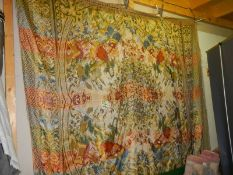 A large antique bed throw in good condition,