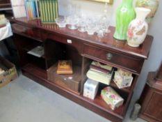 A mahogany hall sideboard/display piece.