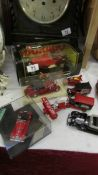 A mixed lot of die cast model vehicles.