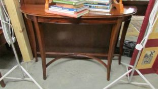 A good quality D shaped hall table.