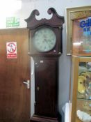 A 19c 30 hour longcase clock 'Smith Alfreton' with weight and pendulum