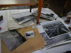 Quantity of 1950's construction documents, photos and drawings of Pelham Bridge road construction,