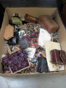 A food box of costume jewellery