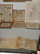 A selection of 8 assorted old and later maps.
